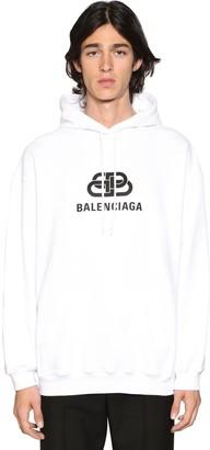 Balenciaga New Bb Cotton Jersey Sweatshirt Hoodie