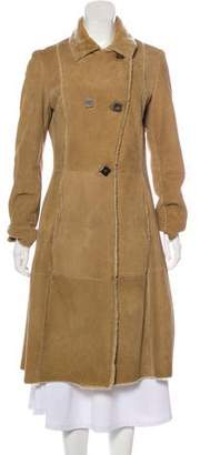 Loro Piana Suede Double-Breasted Coat