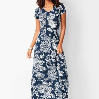 Talbots Paisley Knit Maxi Dress