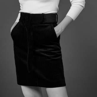 Sandro Short corduroy skirt with belt