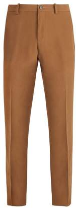 Connolly - Mid Rise Slim Leg Crepe Trousers - Mens - Brown