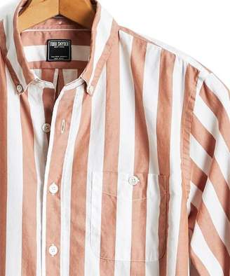 Todd Snyder Camel Bold Stripe Oxford Shirt