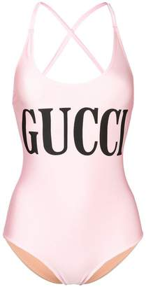 Gucci logo printed swimsuit