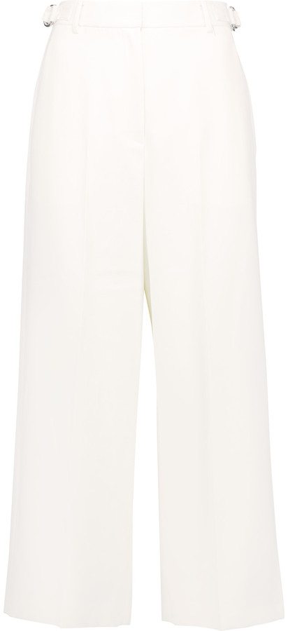 Alexander WangAlexander Wang Cropped wool-piqué wide-leg pants