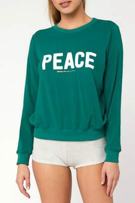 Spiritual Gangster Peace Malibu Crew Pullover