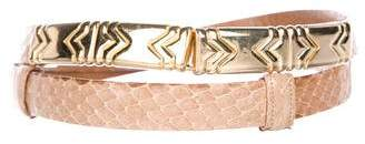 Judith Leiber Snakeskin Waist Belt