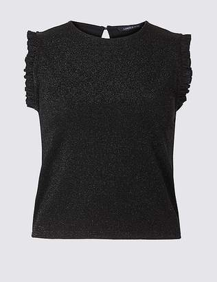 Marks and Spencer Sparkly Cropped Sleeveless Top