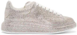 Alexander McQueen Multicolor Glitter Spray Oversized Sneakers