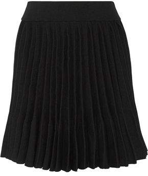 Maje Japon Pleated Cady Mini Skirt