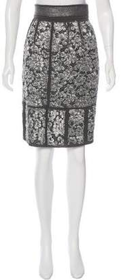 Proenza Schouler Brocade Pencil Skirt