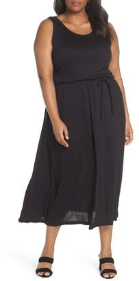 Sejour Strappy V-Back Maxi Dress (Plus Size)