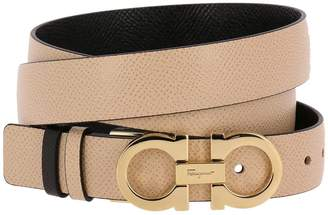 Salvatore Ferragamo Belt Belt Buckle Ganciniin Real Leather Score Adjustable And Reversible