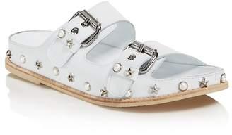 Stuart Weitzman Women's Sandbar Embellished Leather Sandals