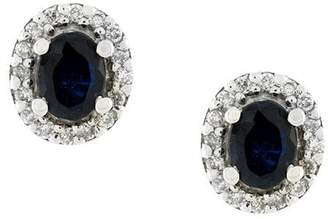 Wouters & Hendrix Gold 18kt gold, diamond and sapphire stud earrings