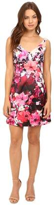 Adrianna Papell Deep V-Neck Mikado Dress Women's Dress