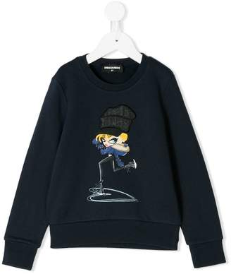 DSQUARED2 girl print sweatshirt