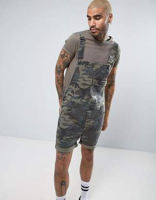 Asos Short Overalls In Camo