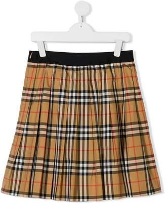 Burberry TEEN pleated skirt