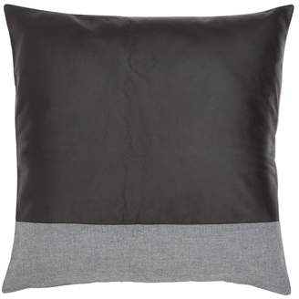 Leather & Linen Stripe Cushion