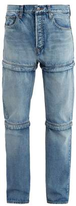 Balenciaga - Triple Hem Straight Leg Jeans - Mens - Blue