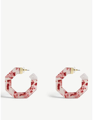 BaubleBar Diem resin hoop earrings