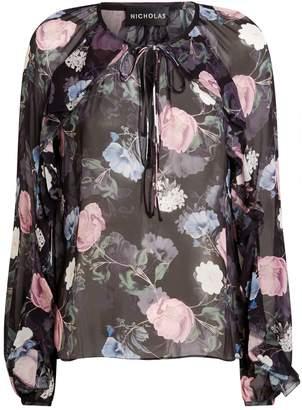 Nicholas Ruffle Floral Top