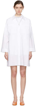 Acne Studios White Jacui Shirt Dress
