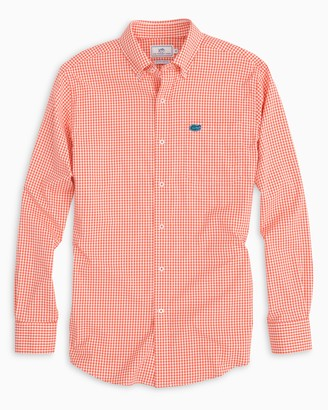 Southern Tide Gameday Gingham Intercoastal Performance Shirt - University of Florida