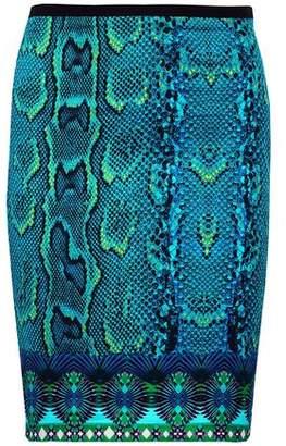 Roberto Cavalli Snake-Print Cotton-Voile Skirt