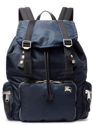 a16b2a4433814 Burberry Leather-Trimmed Nylon Backpack - Men - Navy