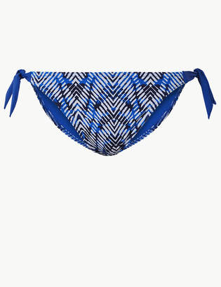 Marks and Spencer Printed Tie Side Hipster Bikini Bottoms