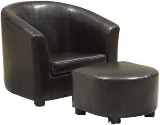 Monarch Leather-Look Juvenile Chair and Ottoman