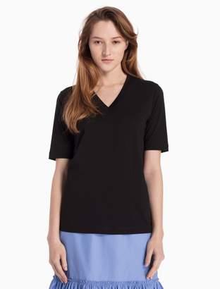 Calvin Klein cotton knit v-neck top