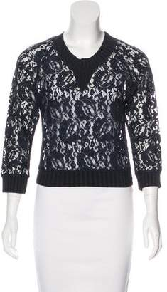Vena Cava Long Sleeve Embroidered Top