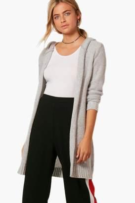 boohoo Soft Knit Hooded Maxi Cardigan