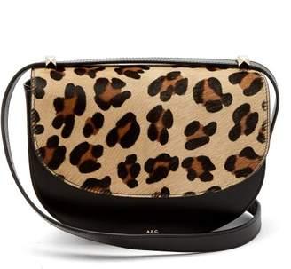 A.P.C. Lausanne Leopard Print Leather Cross Body Bag - Womens - Leopard
