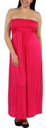 24/7 Comfort Apparel Women's Plus Stop and Stare Dress
