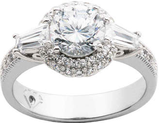 JCPenney FINE JEWELRY 100 Facets by DiamonArt Cubic Zirconia Sterling Silver Ring