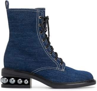 Nicholas Kirkwood Casati Pearl combat boots