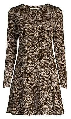 MICHAEL Michael Kors Women's Animal-Print Ruffle Hem Dress