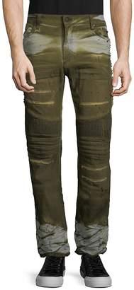 Robin's Jean Men's Studded Long-Flap Biker Jeans