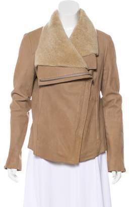 Helmut Lang Leather Shearling Jacket