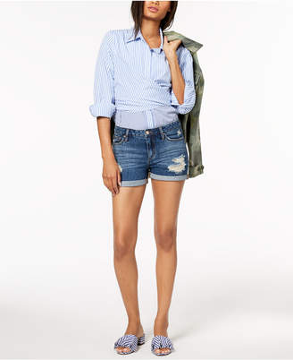 Joe's Jeans The Rolled Ripped Denim Shorts