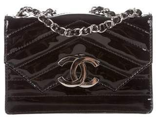 Chanel Patent Chevron CC Shoulder Bag