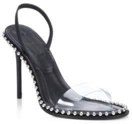 Alexander Wang Nova Leather & PVC Sandals