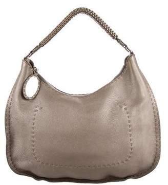 Fendi Grained Leather Selleria Hobo