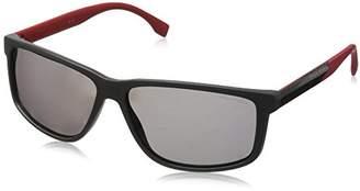 HUGO BOSS BOSS by Men's B0833s B0833S Polarized Rectangular Sunglasses