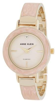 Anne Klein Women's Diamond Accent Bangle Watch, 34mm