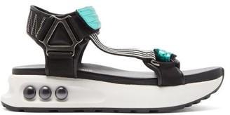 Nicholas Kirkwood Nkp3 Faux Pearl Inlay Leather Flatform Sandals - Womens - Green
