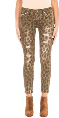 Brown Leopard Relaxed Fit Skinny Jeans 4